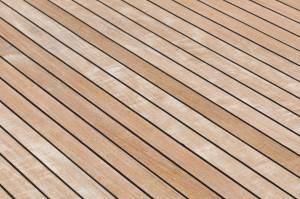 Yacht teak deck